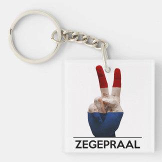 victory symbol hand netherland zegepraal dutch acrylic keychain