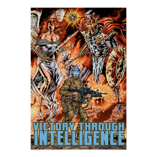 Victory Through Intelligence by Al Rio Poster