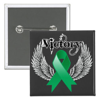 Victory Wings - Liver Cancer 15 Cm Square Badge