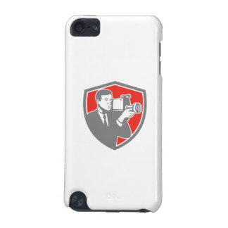 Video Cameraman Shooting Vintage Shield Retro iPod Touch (5th Generation) Cover