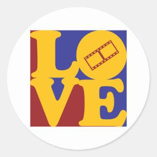 Video Editing Love Round Sticker