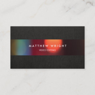 Video business cards zazzle uk video editor cinematography film business card reheart Image collections