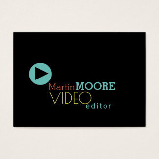 Video editor production visual art play cover business card
