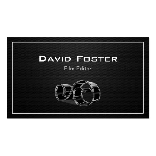Video Film Editor Cutter Director Business Card Templates