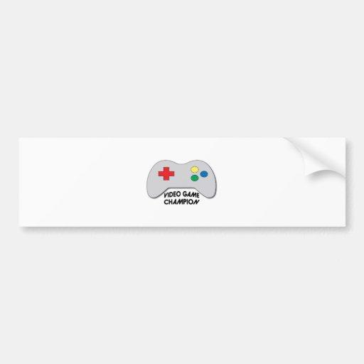 Video Game Champion Bumper Stickers
