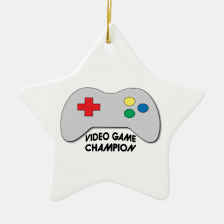 Video Game Champion Ceramic Star Decoration