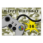 Video Game Controller Cute Teenage Birthday Card