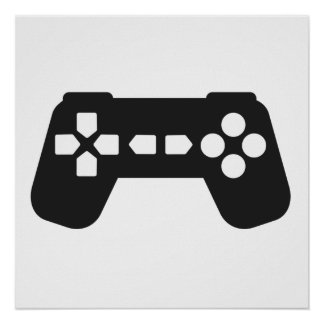 Video Game Controller Poster