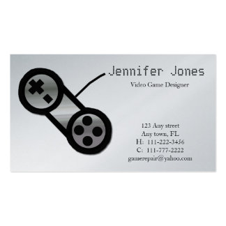 Video Game Design Business Card