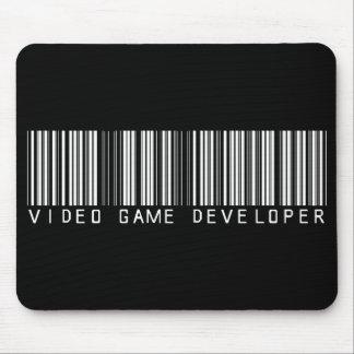 Video Game Developer Bar Code Mouse Mats