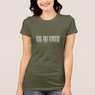 Video Game Developer Bar Code T-Shirt