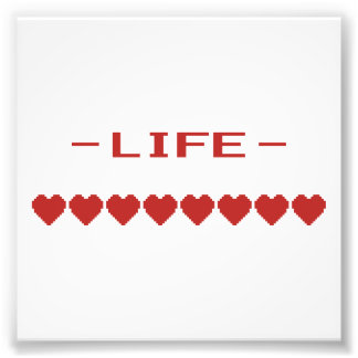 Video Game Heart Life Meter Photo Print
