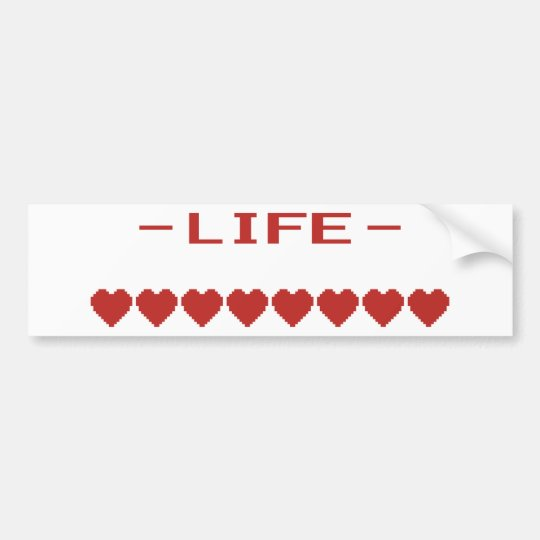 Video Game Heart Life Metre Bumper Sticker