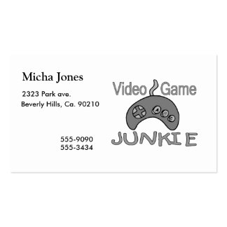 Video Game Junkie Business Card