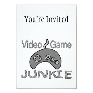 Video Game Junkie 5x7 Paper Invitation Card
