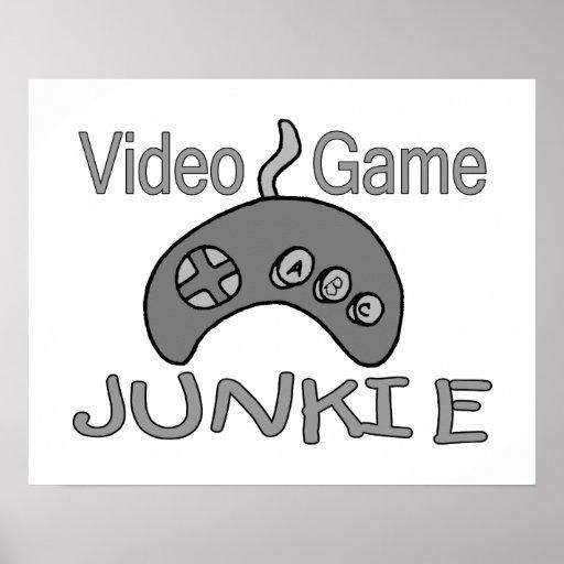 Video Game Junkie Print