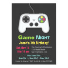 Video Game Night Boys Birthday Party Invitations