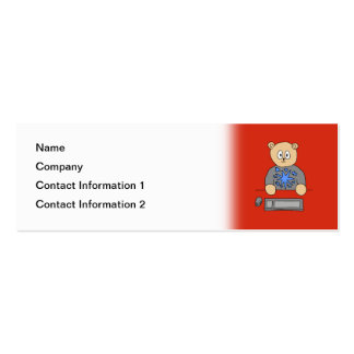 Video Game Player Bear. Pack Of Skinny Business Cards
