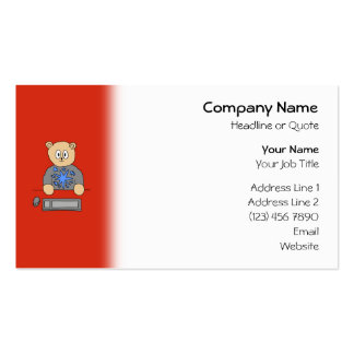 Video Game Player Bear. Pack Of Standard Business Cards