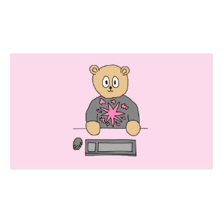 Video Game Player Bear Business Card