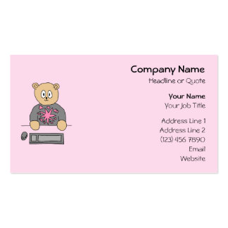 Video Game Player Bear Business Card Template