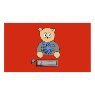 Video Game Player Bear Business Cards