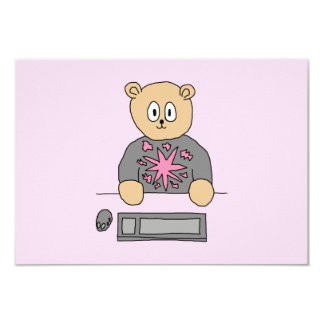 Video Game Player Bear. Personalized Announcement
