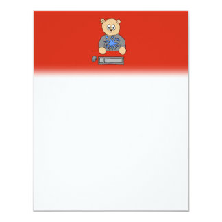 Video Game Player Bear. Personalized Invite