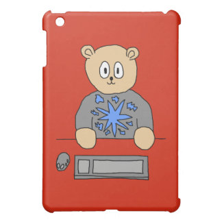 Video Game Player Bear. iPad Mini Covers