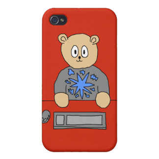 Video Game Player Bear Case For iPhone 4