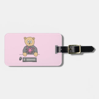 Video Game Player Bear. Luggage Tag