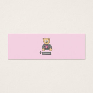 Video Game Player Bear. Mini Business Card