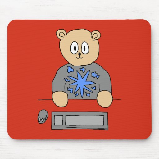 Video Game Player Bear. Mousepad