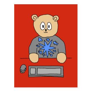 Video Game Player Bear. Postcard