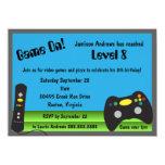 Video Game Truck Birthday Party 11 Cm X 16 Cm Invitation Card
