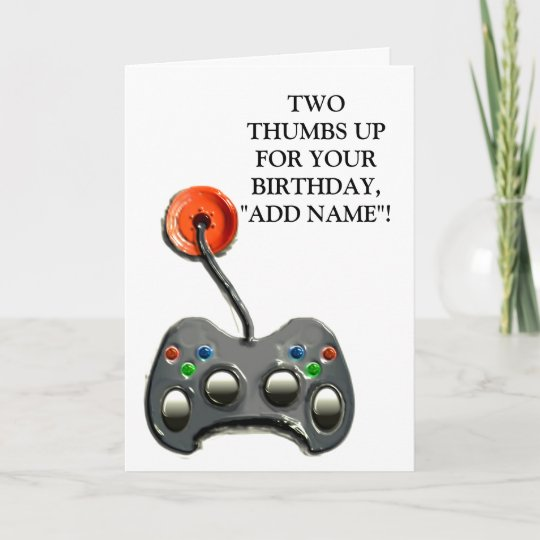 Video Gamer Birthday Card