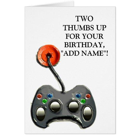 Video Gamer Birthday Card
