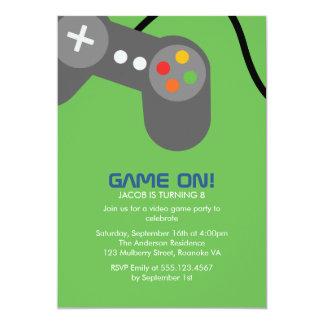 Video Gamer Birthday Party 13 Cm X 18 Cm Invitation Card