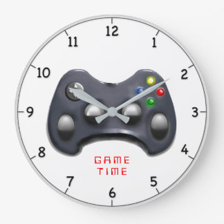 video gamer gift large clock