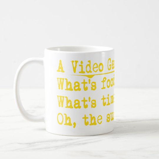 (video gamers mind coffee mug