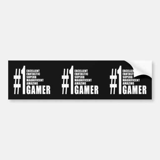 Video Games and Gamers : Number One Gamer Bumper Sticker