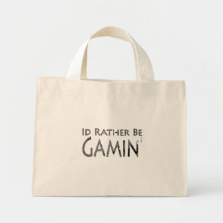 Video Games and Gaming - I'd Rather be Gaming 2 Mini Tote Bag