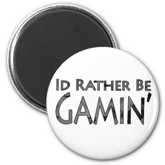 Video Games and Gaming - I'd Rather Be Gaming 6 Cm Round Magnet
