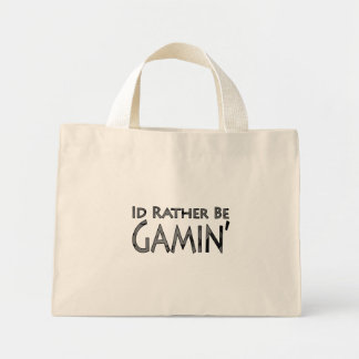 Video Games and Gaming - I'd Rather Be Gaming Mini Tote Bag
