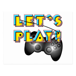 Video Games Day - Let's Play! Postcard
