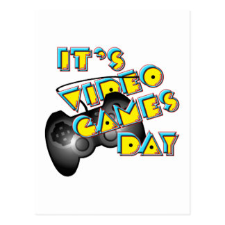 Video Games Day Postcard