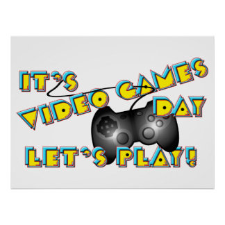 Video Games Day Poster