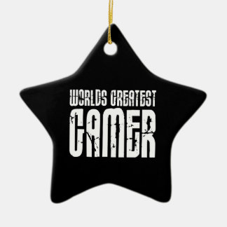 Video Games Gaming & Gamers Worlds Greatest Gamer Christmas Ornament