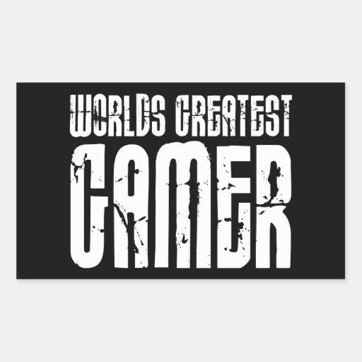 Video Games Gaming & Gamers Worlds Greatest Gamer Rectangular Sticker