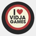 Video Games Round Stickers